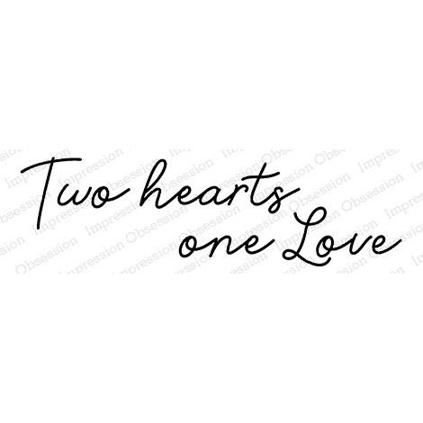 Two Hearts, Impression Obsession Cling Stamps -