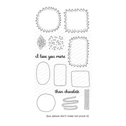 Chocolate Builder, Impression Obsession Clear Stamps -