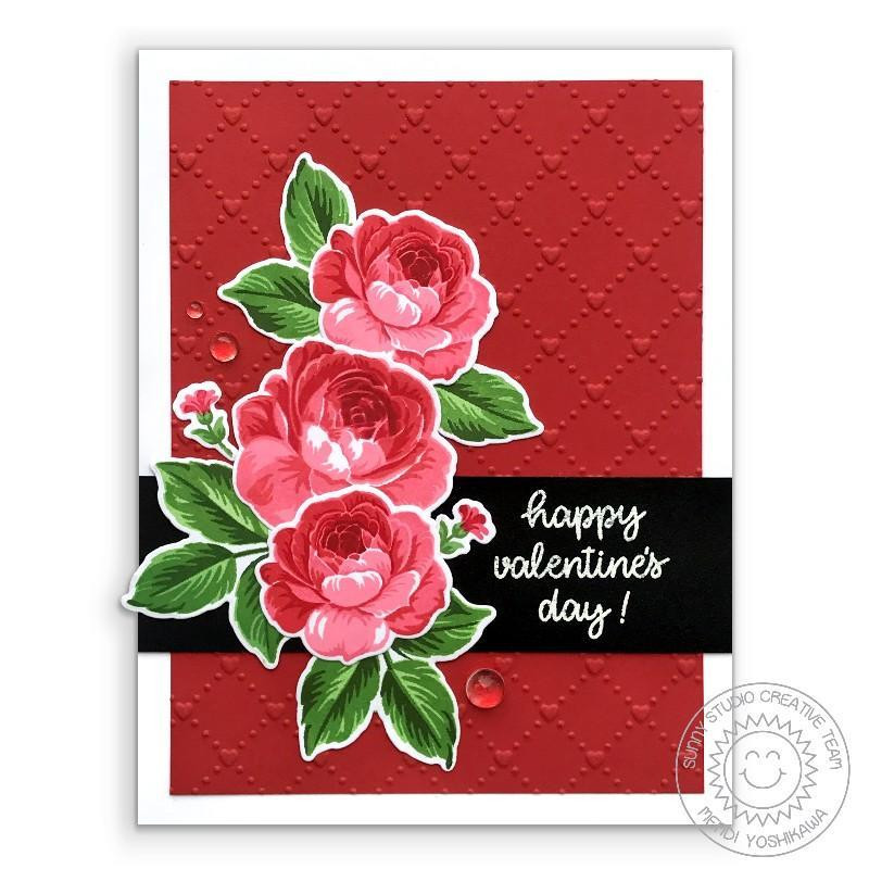 Quilted Hearts, Sunny Studio Embossing Folder - 797648686788