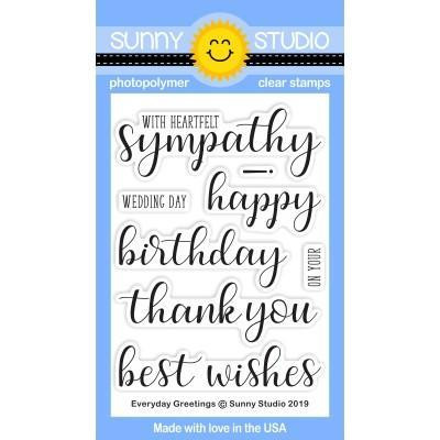 Everyday Greetings, Sunny Studio Clear Stamps - 797648687020