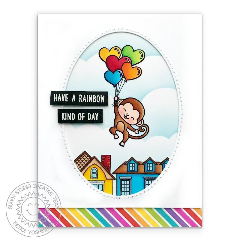 Over The Rainbow, Sunny Studio Clear Stamps - 797648686849