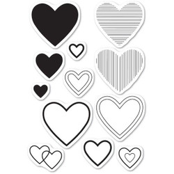 Have A Heart, Memory Box Clear Stamps - 873980452387