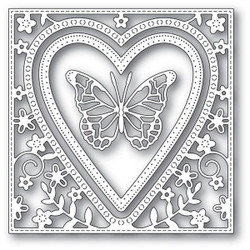 Butterfly Heart Frame, Memory Box Dies - 873980941102