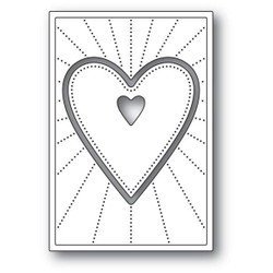 Deco Shining Heart, Poppystamps Dies - 873980921548