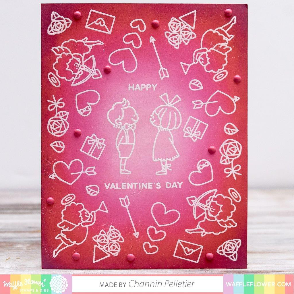 Favorite Valentine, Waffle Flower Clear Stamps - 653341246837