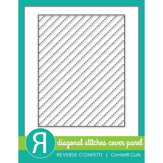 Diagonal Stitches Cover Panel, Reverse Confetti Cuts -