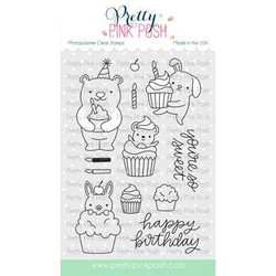 Cupcake Critters, Pretty Pink Posh Clear Stamps -