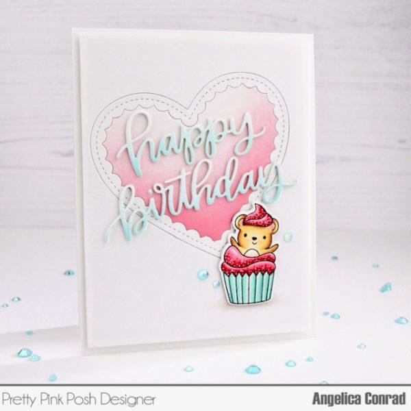 Happy Birthday Script, Pretty Pink Posh Dies -