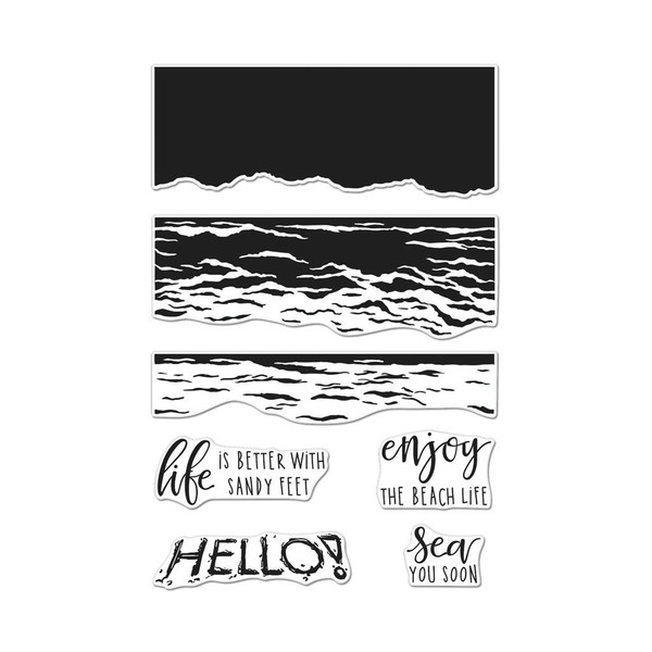 Color Layering Waves, Hero Arts Clear Stamps - 857009202542