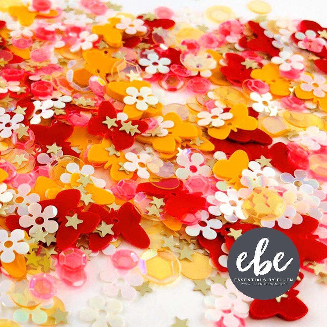 Butterfly Sequin Mix, Essentials By Ellen Embellishments -