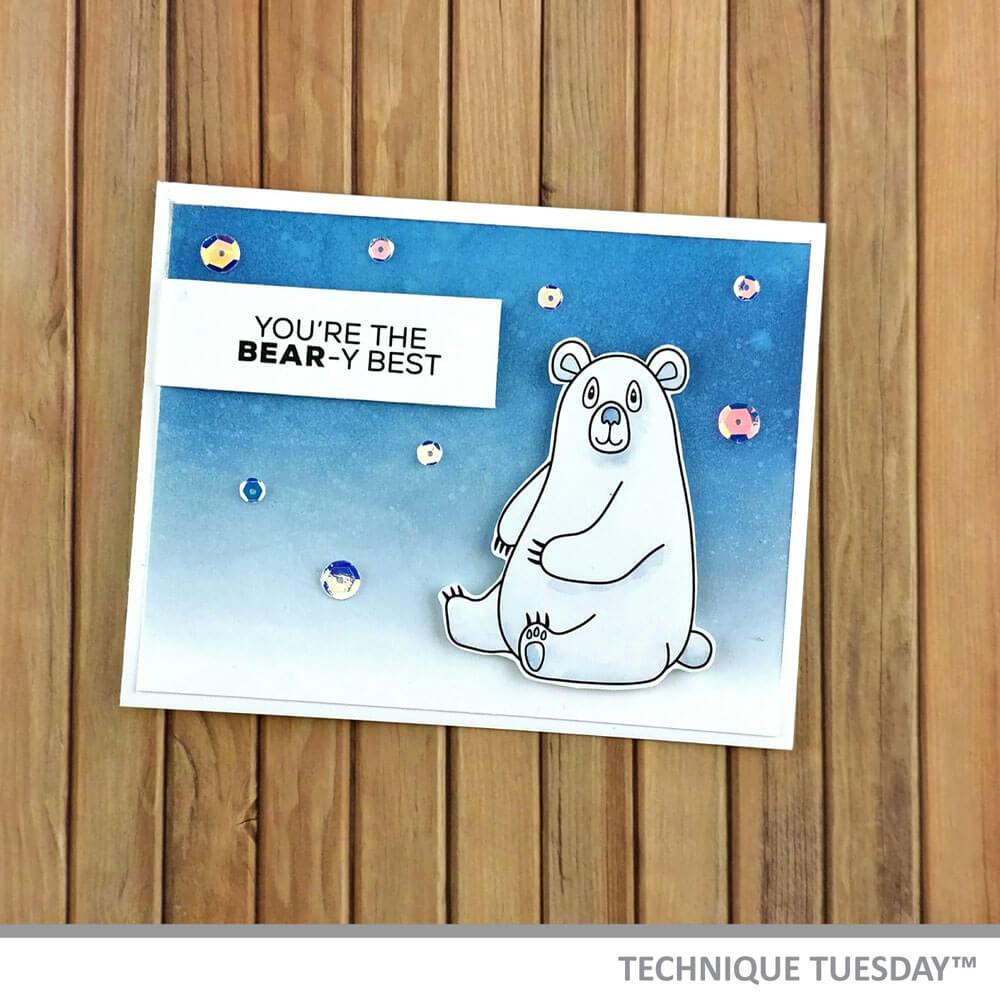 Bobbi The Bear - Animal House January 2019, Technique Tuesday Clear Stamps - 811784027547
