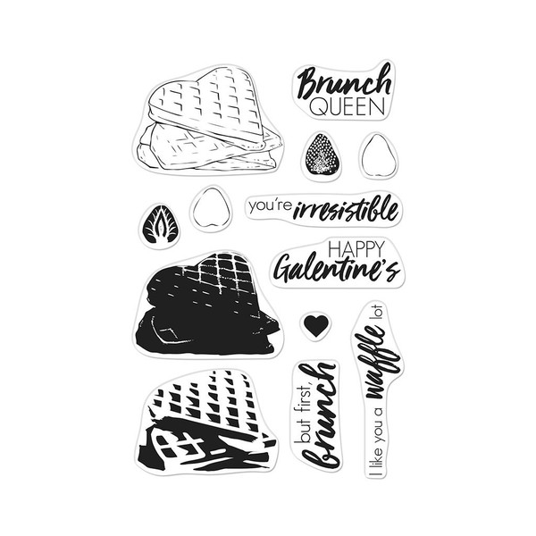 Color Layering Waffles, Hero Arts Clear Stamps - 857009204522