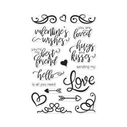 You Are Loved Flourish Messages, Hero Arts Clear Stamps - 857009204768