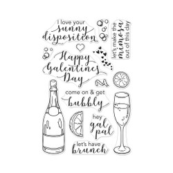 Gal Pal Brunch, Hero Arts Clear Stamps - 857009204836