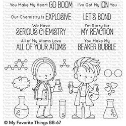 Cute Chemists By Birdie Brown, My Favorite Things Clear Stamps - 849923029343
