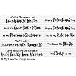 Sassy Pants Love, My Favorite Things Clear Stamps - 849923029398