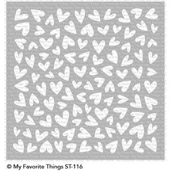 Lots Of Heart, My Favorite Things Stencils - 849923029640