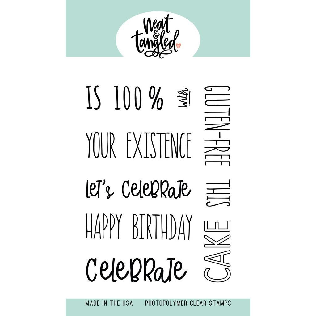 Piece of Cake Sentiments, Neat & Tangled Clear Stamps -