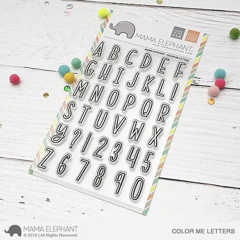 Color Me Letters, Mama Elephant Clear Stamps -