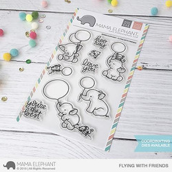 Flying With Friends, Mama Elephant Clear Stamps -