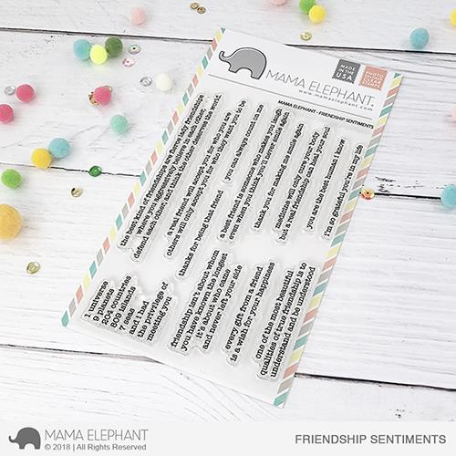 Friendship Sentiments, Mama Elephant Clear Stamps -
