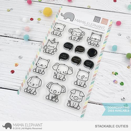 Stackable Cuties, Mama Elephant Clear Stamps -