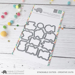 Stackable Cuties, Mama Elephant Creative Cuts -