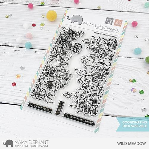 Wild Meadow, Mama Elephant Clear Stamps -