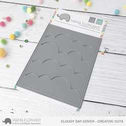 Cloudy Day Cover, Mama Elephant Creative Cuts -