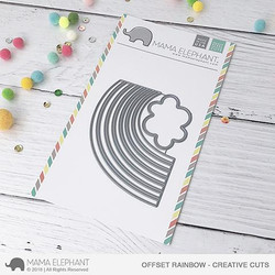 Offset Rainbow, Mama Elephant Creative Cuts -