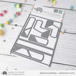 Wiper Surprise, Mama Elephant Creative Cuts -