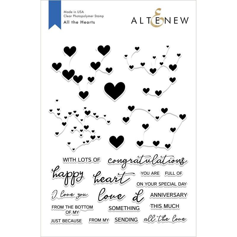 All The Hearts, Altnew Clear Stamps - 704831297065