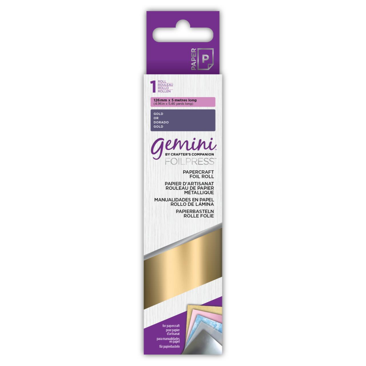 Gold, Gemini FoilPress Papercraft Foil Rolls - 709650879447