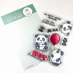 Lovely Pandas, Gerda Steiner Designs Clear Stamps -