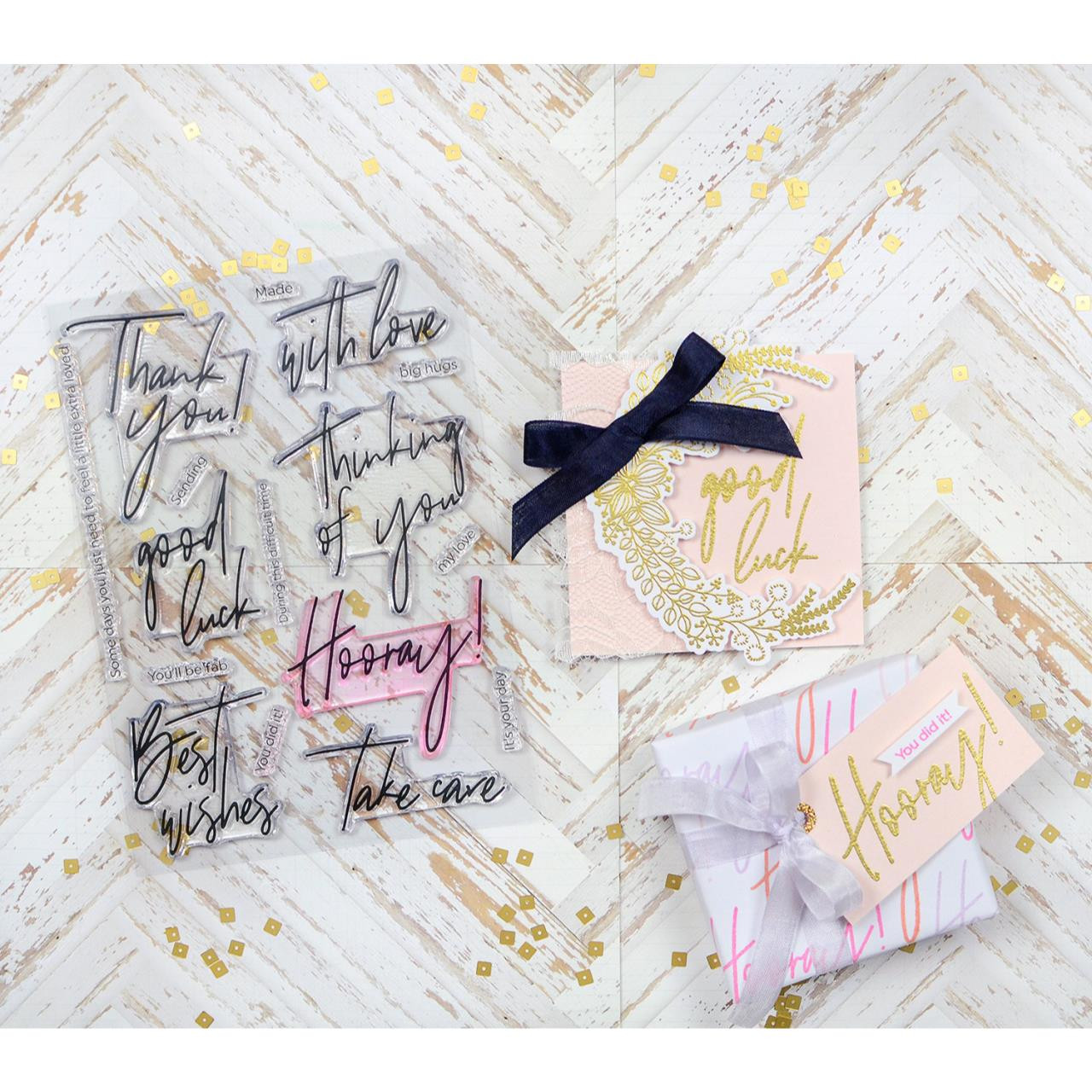 Scripted Bold Sentiments 1, Pinkfresh Studio Clear Stamps - 782150200799