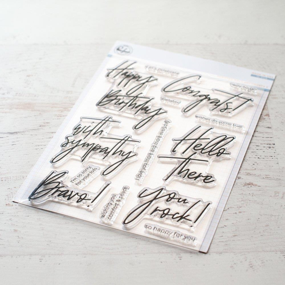 Scripted Bold Sentiments 2, Pinkfresh Studio Clear Stamps - 782150200805
