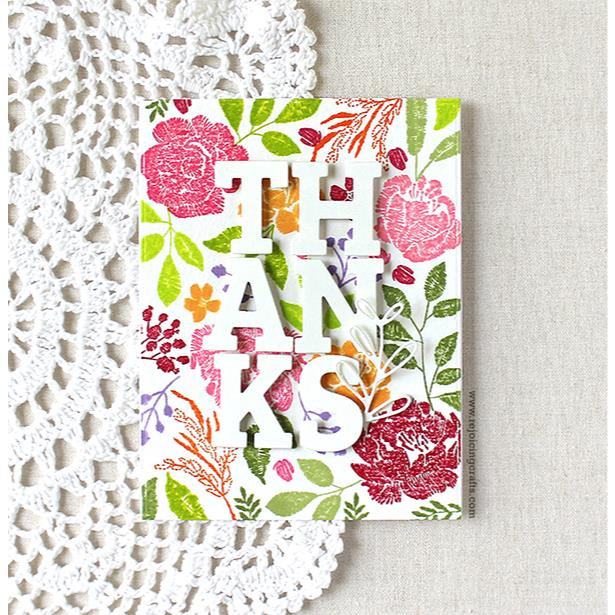 Embroidered Blossoms, Pinkfresh Studio Clear Stamps - 782150200850