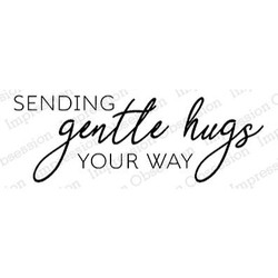 Gentle Hugs, Impression Obsession Cling Stamps -