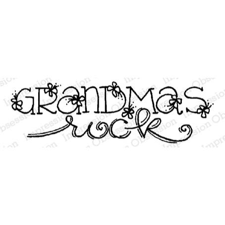 Grandmas Rock, Impression Obsession Cling Stamps -
