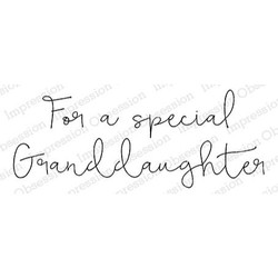Special Granddaughter, Impression Obsession Cling Stamps -