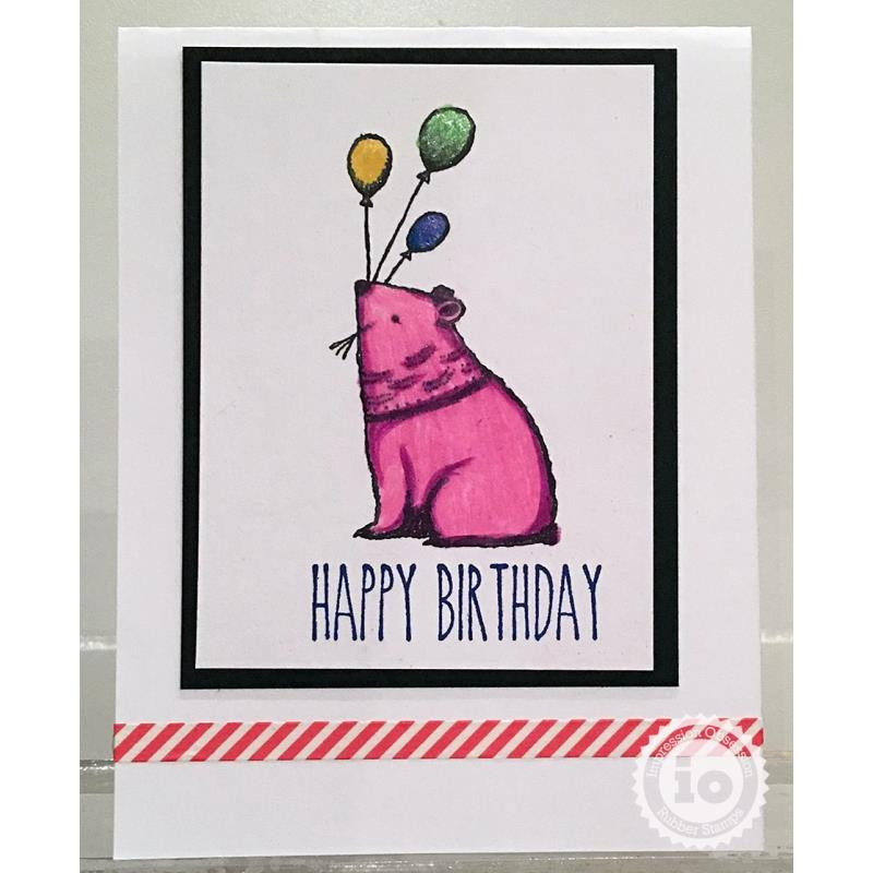 Balloon Bear, Impression Obsession Cling Stamps -