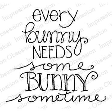 Every Bunny, Impression Obsession Cling Stamps -