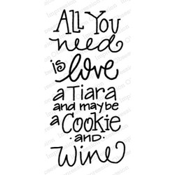 Tiara, Cookie And Wine, Impression Obsession Cling Stamps -