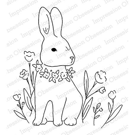 Garden Bunny, Impression Obsession Cling Stamps -