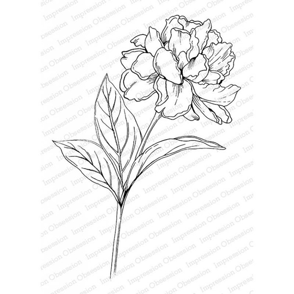 Peony, Impression Obsession Cling Stamps -
