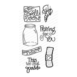 Get Well, Impression Obsession Clear Stamps -