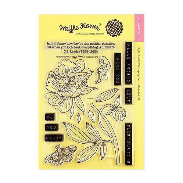 Peony Dreams, Waffle Flower Clear Stamps -