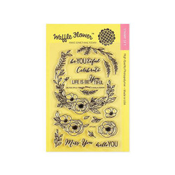 Be You Tiful, Waffle Flower Clear Stamps -
