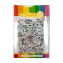 Little Fairies, Waffle Flower Stamp & Die Combo -