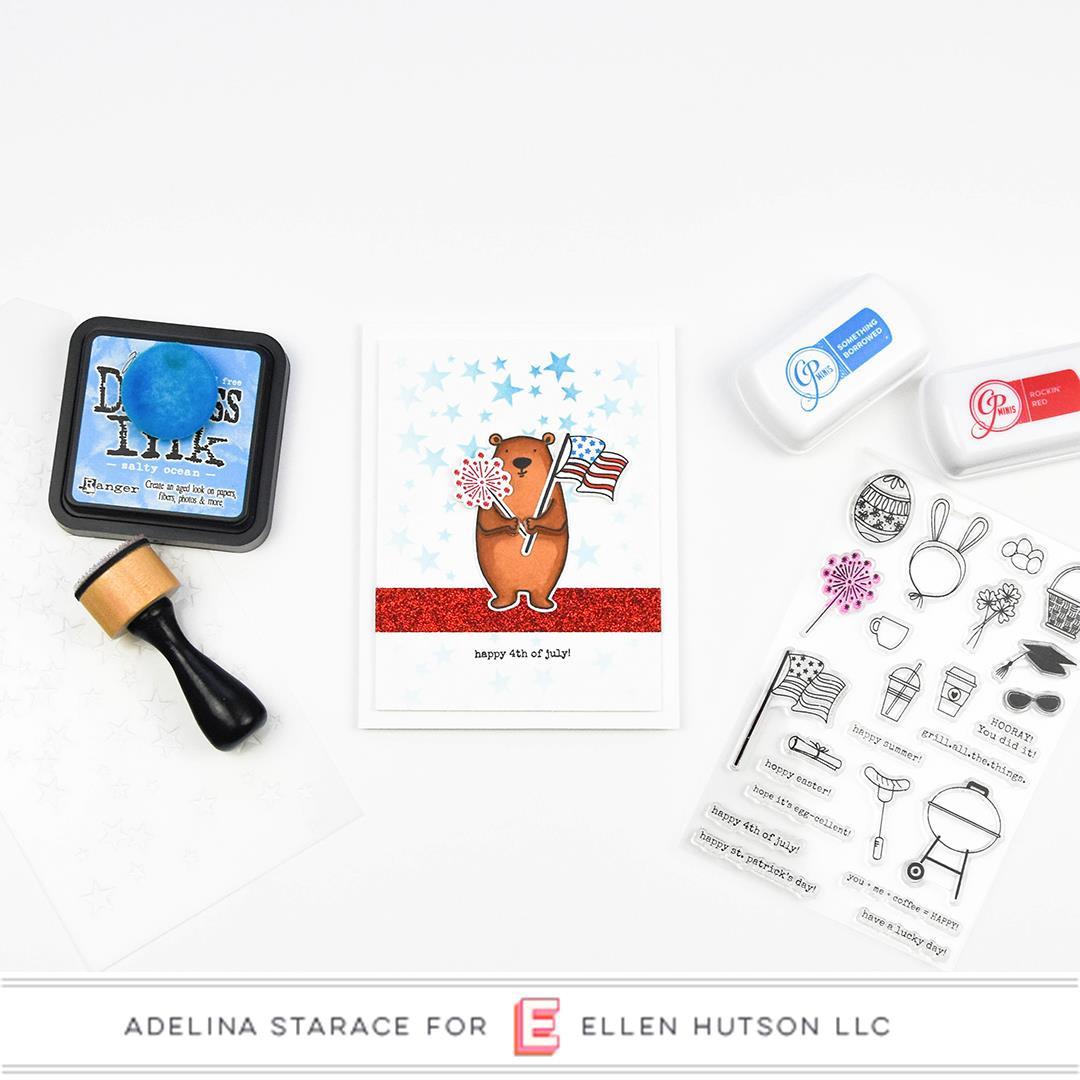 Bear Ware 3 by Julie Ebersole, Essentials by Ellen Clear Stamps -